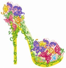 Floral high heel shoe 3