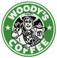 Woody's coffee embroidery design
