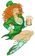 Irish beer girl