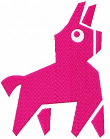 Pink llama embroidery design