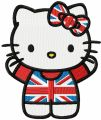 Kitten Great Britain embroidery design