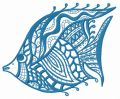 Mosaic fish 4 embroidery design