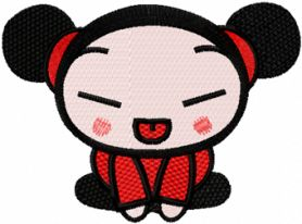 Pucca Joker machine embroidery design