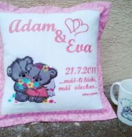 Embroiderd cushion wedding gift