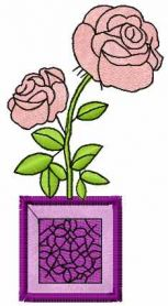 rose free machine embroidery design 13