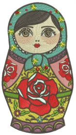 Matryoshka embroidery design
