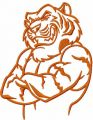 Tiger mascot 8 embroidery design