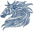 Mosaic horse 3 embroidery design
