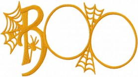 Boo web embroidery design