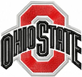 Ohio State University logo machine embroidery design