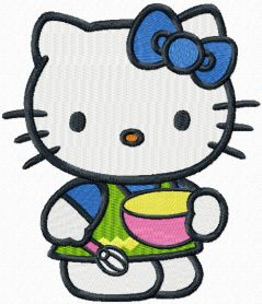 Hello Kitty Master Cook machine embroidery design