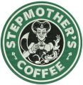 Stepmother's coffee embroidery design