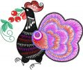 Rooster 3 embroidery design
