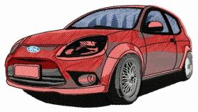 Ford car 2 machine embroidery design