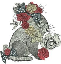Bunny with flower decoration