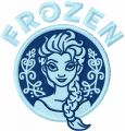 Frozen ice embroidery design