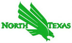 North Texas Mean Green logo machine embroidery design