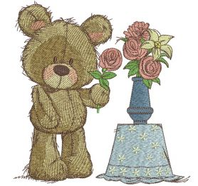 Rose for you machine embroidery design