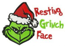 Resting Grinch face horizontal