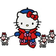 Hello Kitty with Small Dogs