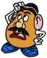 Bemused Mr. Potato Head embroidery design