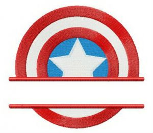 Captain America's shield straignt badge