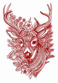 Mosaic deer 3 machine embroidery design