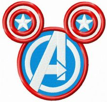 Avengers logo on mouse silhouette