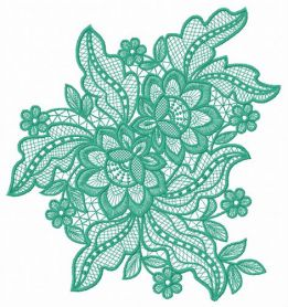 Lace flower 7 machine embroidery design