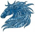 Mosaic horse 2 embroidery design