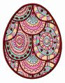 Mosaic egg embroidery design