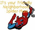 Neighborhood Spider-Man embroidery design