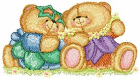 Forever Friends happy together machine embroidery design