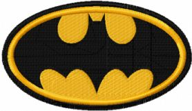 Batman logo machine embroidery design
