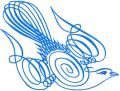 Blue bird free embroidery design 2