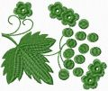 Leaf Viburnum free machine embroidery design