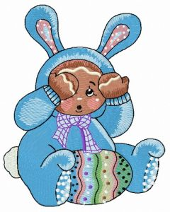 Gingerbread boy in bunny costume