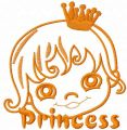 Princess free embroidery design