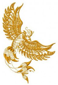 Firebird 4 machine embroidery design