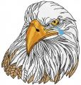 White eagle embroidery design