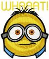 Minion whaaat embroidery design