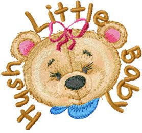 Old Toys Hush Little Baby machine embroidery design