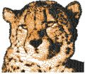 Leopard free machine embroidery design