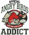 Angry Birds addict embroidery design