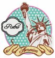 America embroidery design