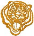 Tribal tiger free machine embroidery design 9