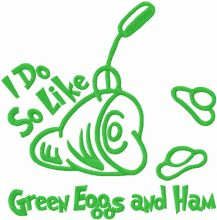 I do so like green eggs and ham one colored