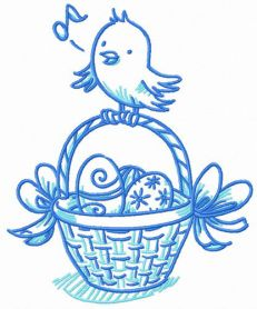 Easter bird songs machine embroidery design