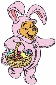 Easter bunny machine embroidery design
