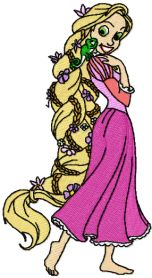 Tangled Beautiful machine embroidery design